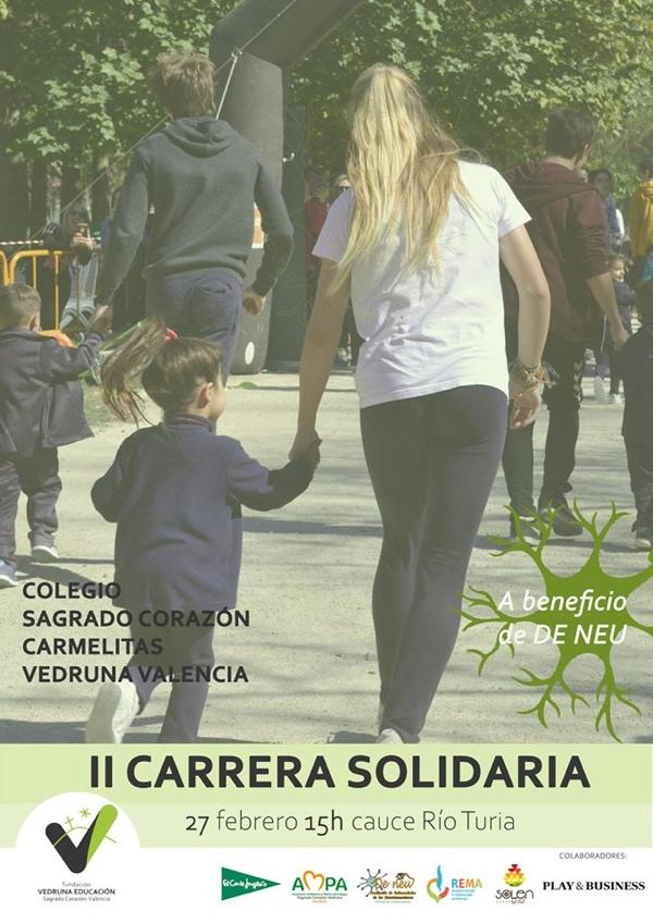 El Colegio Sagrado Corazón Vedruna de Valencia organiza su segunda carrera solidaria para visibilizar las enfermedades de los neurotransmisores