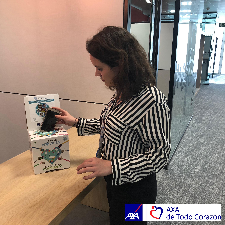 AXA de Todo Corazón colabora con De Neu en la campaña de recogida de móviles