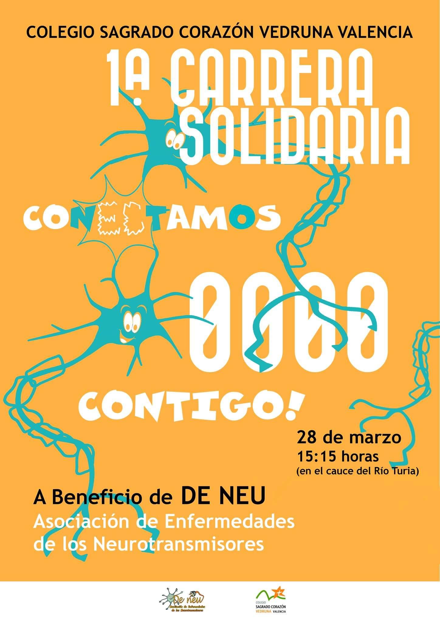 El Colegio Sagrado Corazón Vedruna organiza su primera carrera solidaria para visibilizar las enfermedades de los neurotransmisores.