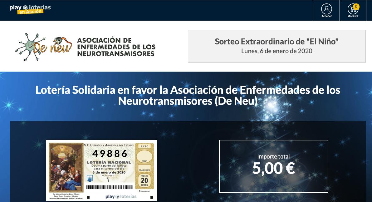 Colabora con Deneu con la lotería de El Niño 2020